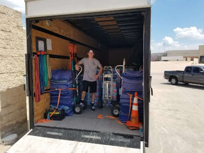Image of mover in moving truck